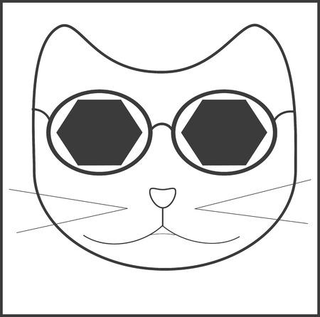 cat, sunglasses, accessory, mustache Stok Fotoğraf - 127256422