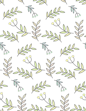twigs, leaves, floral, pattern