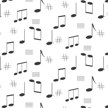 music notes singing song Çizim