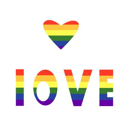 inscription of love, lgbt, rainbow, sexsuality, love  イラスト・ベクター素材