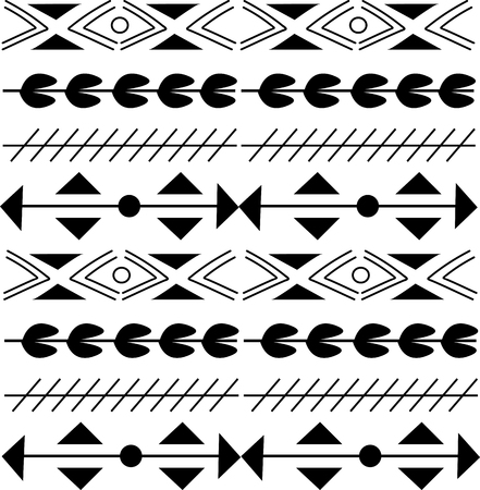 Seamless pattern in boho style Ethnic and tribal motifs.
