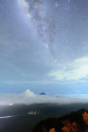 Star trail at Bromo mountain