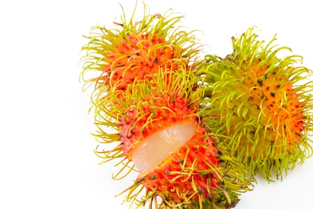 Tropical fruit rambutan photo