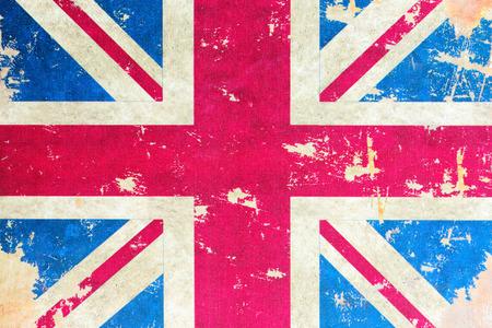 drapeau angleterre: Vieux drapeau britannique Banque d'images