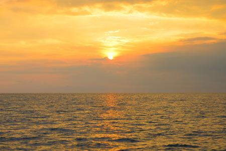 Sunset above the sea Reklamní fotografie