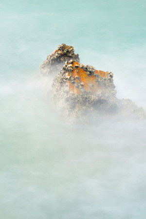 Rock and sea with long exposure