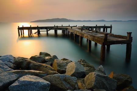 Old harbor at sunrise Reklamní fotografie