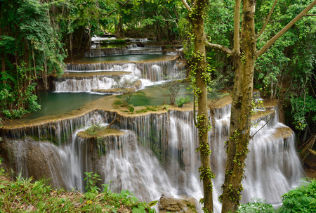 Water fall in tropical deep forest
