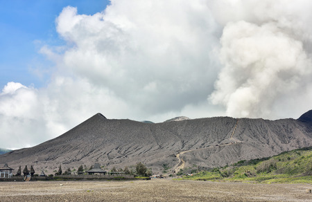 tengger: Creater of Bromo volcano at sunrise,Tengger Semeru National Park, East Java, Indonesia