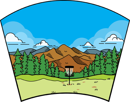 disc golf landscape