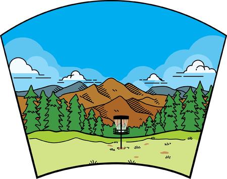 disc golf landscape