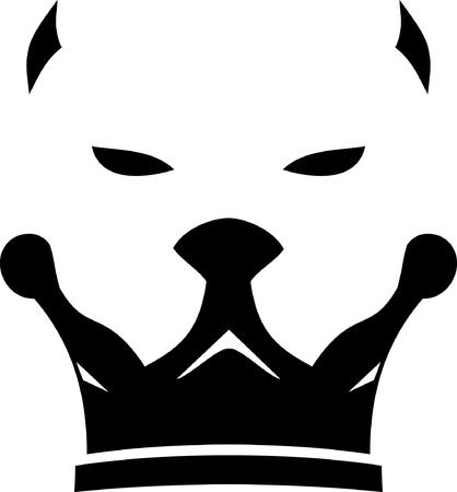 king dog logo