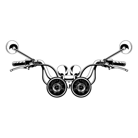 Motorcycle steering wheel.