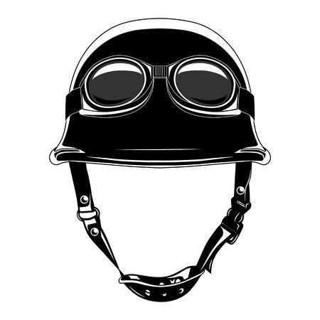 Vektorbild des Motorradhelms mit Brille.