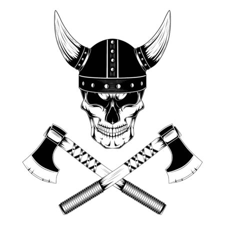 Skull emblems with axes