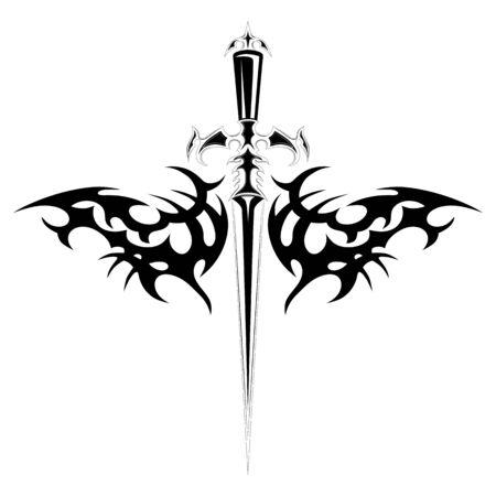 Vector de la imagen de una daga con un patrón.