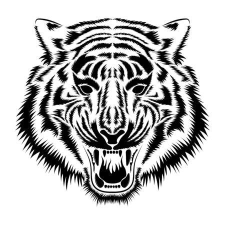 Grafika wektorowa pysk tygrysa.