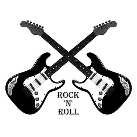 Vector image of two guitars. Image on a white background. Ilustração