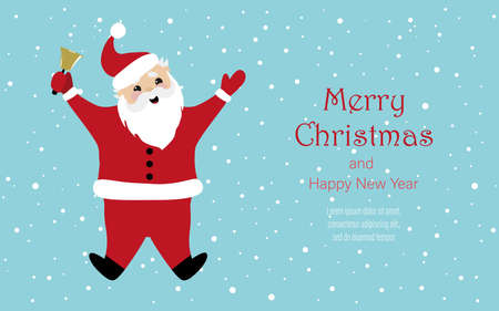 Vector image of a cheerful santa claus. Background for covers, banners, flyers, splash screens. Merry Christmas and Happy New Year.