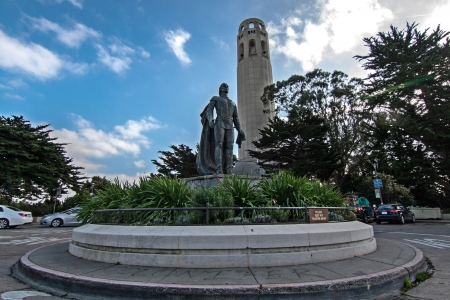 coit tower: statue of coit tower