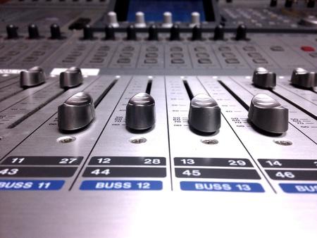 Buttons production console  Stok Fotoğraf