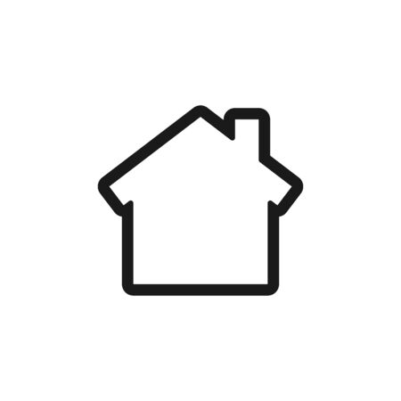 Home icon. House symbol. Simple vector illustration