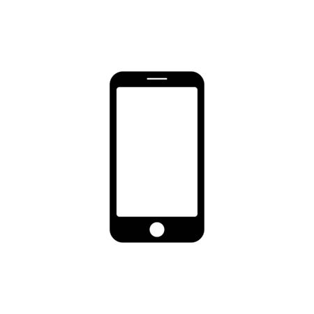 Smartphone icon. Simple vector illustration on white background.
