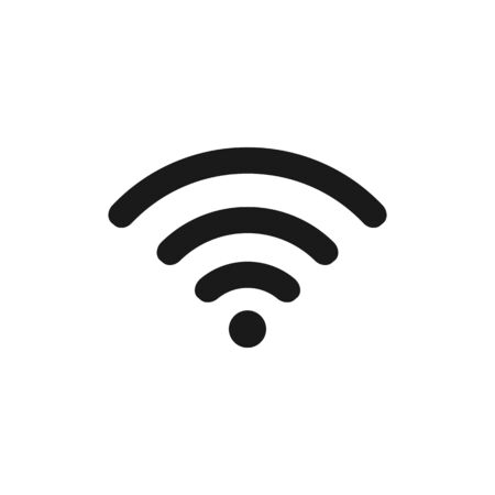 Wireless Network Symbol. WiFi icon. Wireless Internet sign isolated on white background.