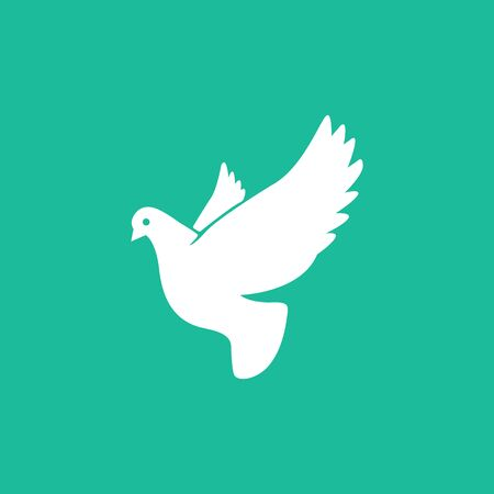 Pigeon symbol in simple style. Dove icon.