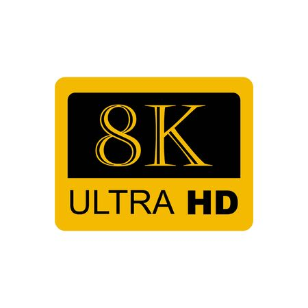 8K Ultra HD , 8K High Definition Vector illustration
