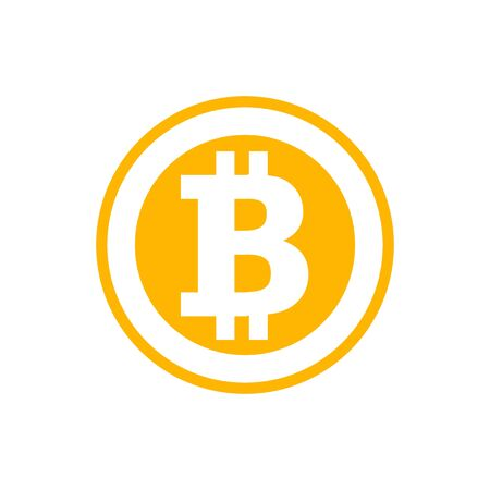 Simbolo Bitcoin in stile piatto. Illustrazione di criptovaluta