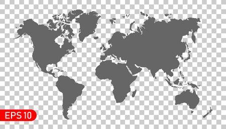 Detailed world map. Vector illustration. EPS 10