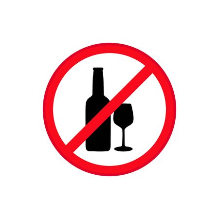 No alcohol sign on white background vector Banque d'images - 137669269
