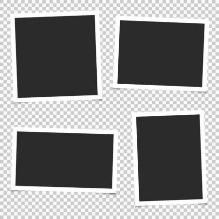 Set of empty photo frames. Vector. EPS 10 Çizim