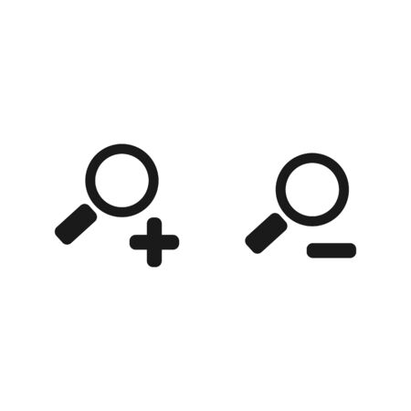 Zoom in and out sign. Loupe symbol icon. Vector EPS 10