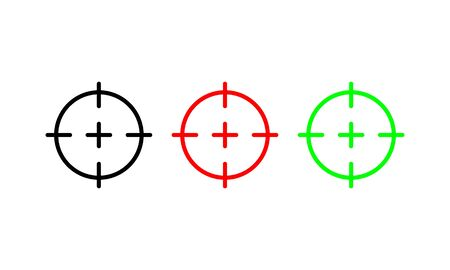 Target icons set in three colors vector. EPS 10