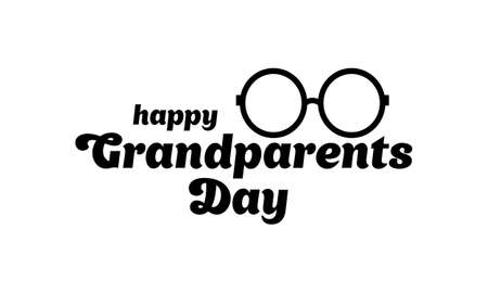 Happy Grandparents day template. Vector illustration EPS 10  イラスト・ベクター素材
