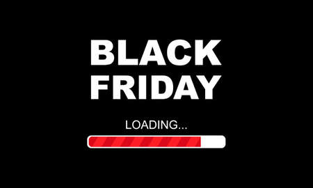 Black friday banner. Big Sale banner with loading scale Vector EPS 10
