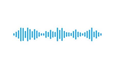 Sound waves equalizer in blue. Çizim