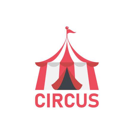 Circus vector  . Red Circus tent  template. Иллюстрация