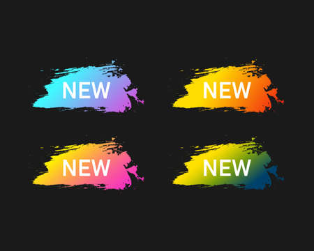 New colorful banners set. New banner template. New brush strokes. Vector EPS10.