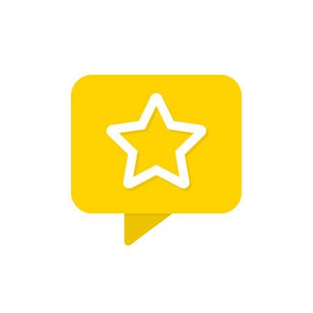 Star button vector icon. Favorite star social media notification symbol Vector illustration EPS 10 Иллюстрация