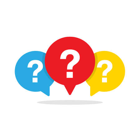 Message bubble with question mark vector icon Vector illustration EPS 10 Иллюстрация