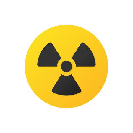 Radiation vector icon. Radioactivity black symbol isolated Vector illustration EPS 10