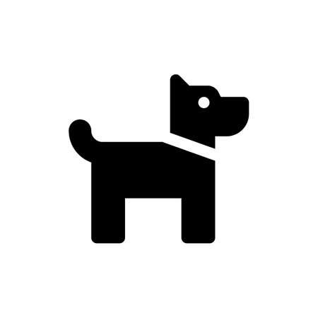 Dog vector icon. Dog pet black symbol isolated Vector illustration EPS 10
