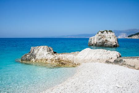 Fteri beach, island Cephalonia (Kefalonia), Greece