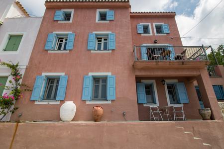 Greek style facade in Assos, Kefalonia
