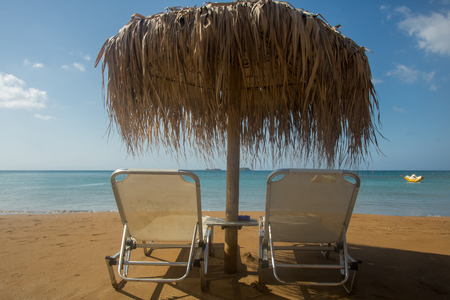 Xi beach, island Kefalonia (Cephalonia), Greece Stock Photo