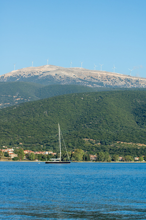 The bay and port of Sami, island Kefalonia, Greece Stock Photo