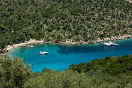 Filiatro beach, island Ithaca, Greece Editorial